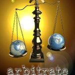 "Book Cover for ""Arbitrate"" by Megan Thomason"