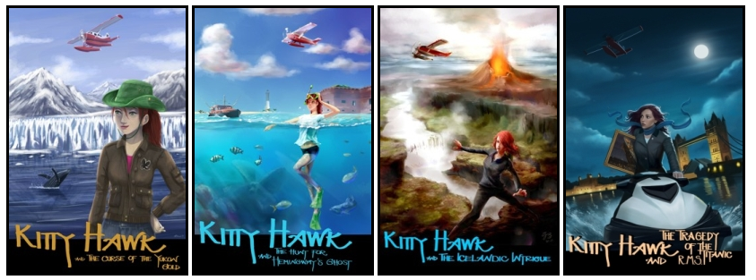 Cover Images for the Kitty Hawk Flying Detective Agency Series by Iain Reading
