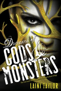 "Book Cover for ""Dreams of Gods & Monsters"" by Laini Taylor"