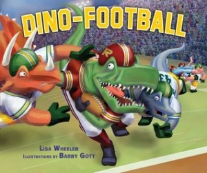 "Book Cover for ""Dino-Football"" by Lisa Wheeler"