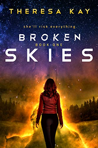 "Book Cover for ""Broken Skies"" by Theresa Kay"