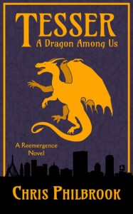 """Book Cover for """"Tesser: A Dragon Among Us"""" by Chris Philbrook"""