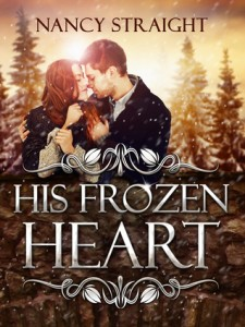 """Book Cover for """"His Frozen Heart"""" by Nancy Straight"""