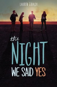 "Book Cover for ""The Night We Said Yes"" by Lauren Gibaldi"