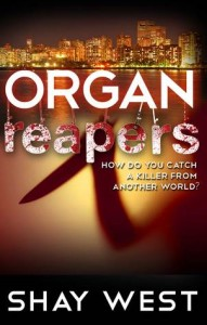 "Book Cover for ""Organ Reapers"" by Shay West"