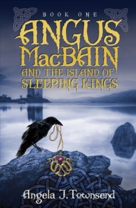 "Book Cover for ""Angus MacBain and the Island of Sleeping Kings"" by Angela J. Townsend"