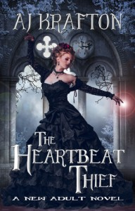 "Book Cover for ""The Heartbeat Thief"" by AJ Krafton"