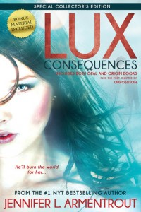 "Book Cover for ""Consequences (Lux, #3-4)"" by Jennifer L Armentrout"