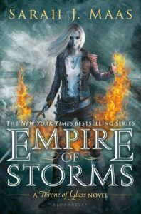 "Book Cover for ""Empire of Storms"" by Sarah J Maas"