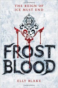 "Book Cover for ""Frostblood"" by Elly Blake"