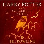 "Audiobook Cover for ""Harry Potter and the Sorcerer's Stone"" by J.K. Rowling"