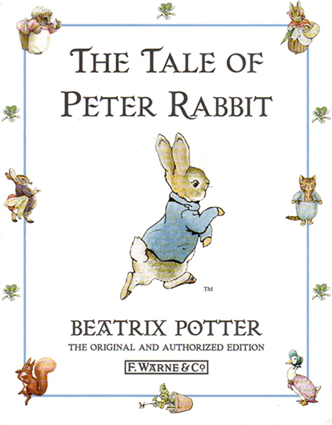 "Book Cover for ""The Tale of Peter Rabbit"" by Beatrix Potter"