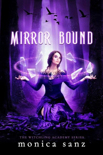 "Book Cover for ""Mirror Bound"" by Monica Sanz"