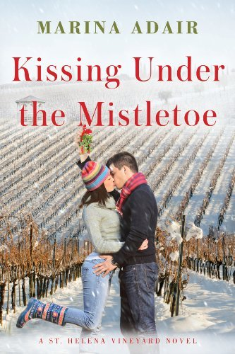 "Book Cover for ""Kissing Under the Mistletoe"" by Marina Adiar"