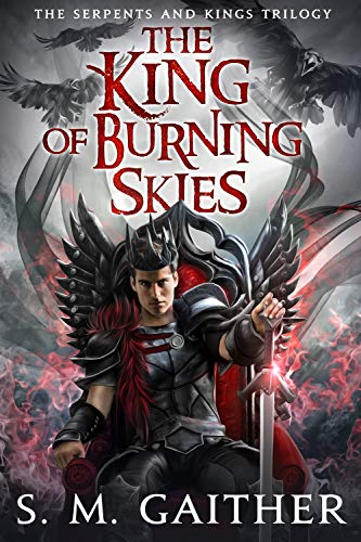 "Book Cover for ""The King of Burning Skies"" by S.M. Gaither"